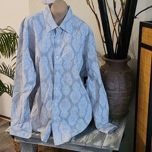 TASSO ELBA MULTI XL UNIQUE PATTERN DRESS SHIRT